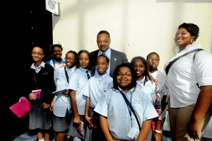 BFA students with Rev. Jesse Jackson
