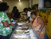 Parents provide dinner at Back to School night!