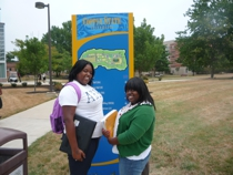Jasmine Cooper '10 (Coppin State '14) and Shymikka Orr '10 (Coppin State '14)